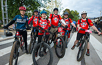 NWA Democrat-Gazette/BEN GOFF @NWABENGOFF<br /> Members of the OZ Mountain Bike Patrol pose for a photo Friday, May 10, 2019, during the Bentonville Film Festival.