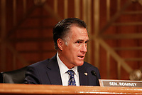 United States Senator Mitt Romney (Republican of Utah) questions witnesses during the US Senate Committee on Homeland Security and Government Affairs hearing on April 9, 2019.<br /> Credit: Stefani Reynolds / CNP/AdMedia