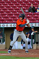 Bowling Green Hot Rods outfielder Beau Brundage (11) at bat during a Midwest League game against the Cedar Rapids Kernels on May 2, 2019 at Perfect Game Field in Cedar Rapids, Iowa. Bowling Green defeated Cedar Rapids 2-0. (Brad Krause/Four Seam Images)