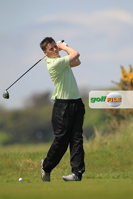James Sugrue (Mallow) on the 8th tee during Round 4 of the Flogas Irish Amateur Open Championship at Royal Dublin on Sunday 8th May 2016.<br /> Picture:  Golffile / Thos Caffrey