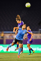 Orlando, FL - Saturday September 10, 2016: Raquel Rodriguez, Sarah Hagen during a regular season National Women's Soccer League (NWSL) match between the Orlando Pride and Sky Blue FC at Camping World Stadium.