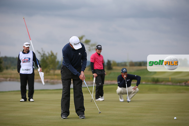 Peter Lawrie (IRL) makes birdie on the 9th during the Final Round of the D&D Real Czech Masters 2014 from the Albatross Golf Resort, Vysoky Ujezd, Prague. Picture:  David Lloyd / www.golffile.ie