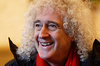 Pictured: Brian May. Thursday 26 December 2019<br /> Re: Guitarist Brian May of Queen has joined the Boxing Day Hunt in Wind Street, Swansea, Wales, UK.