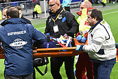 2nd November 2017, Nice, France; EUFA Europa League, Olympique Lyonnais versus Everton;   Cuco Martina  (everton)is taken off on a stretecher
