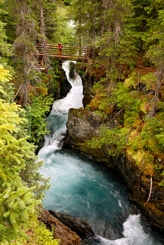 Winner Creek Gorge, Winner Creek Gorge Trail, Girdwood, Chugach National Forest, Alaska.