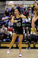 20.01.2018 Kayla Cullen of Silver Ferns during the Netball Quad Series netball match between England Roses and Silver Ferns at the Copper Box Arena in London. Mandatory Photo Credit: ©Ben Queenborough/Michael Bradley Photography