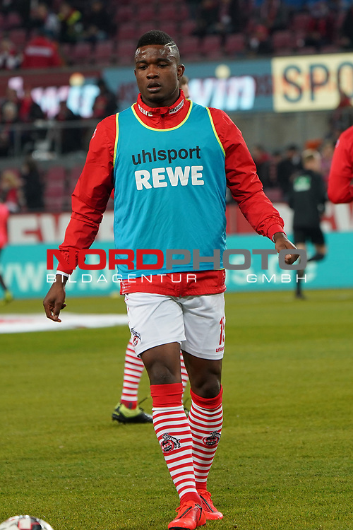 08.02.2019, RheinEnergieStadion, Koeln, GER, 2. FBL, 1.FC Koeln vs. FC St. Pauli,<br />  <br /> DFL regulations prohibit any use of photographs as image sequences and/or quasi-video<br /> <br /> im Bild / picture shows: <br /> Jhon C&oacute;rdoba (FC Koeln #15),   beim Aufwaermen, Einzelaktion,  <br /> <br /> Foto &copy; nordphoto / Meuter