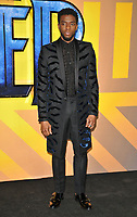 Chadwick Boseman at the &quot;Black Panther&quot; European film premiere, Hammersmith Apollo (Eventim Apollo), Queen Caroline Street, London, England, UK, on Thursday 08 February 2018.<br /> CAP/CAN<br /> &copy;CAN/Capital Pictures