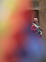 La Paz, Bolivia<br /> A picture dated January 21, 2006 shows Bolivian President Evo Morales the day before his official inaguration in the ancient ruins of Tiwanacu in the Bolivian Altiplano.