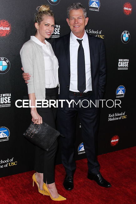 HOLLYWOOD, LOS ANGELES, CA, USA - MARCH 20: Erin Foster, David Foster at the 2nd Annual Rebels With A Cause Gala Honoring Larry Ellison held at Paramount Studios on March 20, 2014 in Hollywood, Los Angeles, California, United States. (Photo by Xavier Collin/Celebrity Monitor)