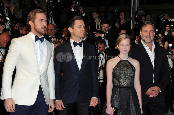 Ryan Gosling, Matt Bomer, Angourie Rice and Russell Crowe at the &acute;The Nice Guys` screening during The 69th Annual Cannes Film Festival on May 15, 2016 in Cannes, France.<br /> CAP/LAF<br /> &copy;Lafitte/Capital Pictures /MediaPunch ***NORTH AND SOUTH AMERICA ONLY***