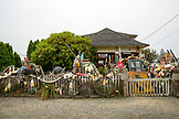 USA, Washington State, Long Beach Peninsula, International Kite Festival, Hobo Junction Antiques, a collection of architectural salvage, pre-owned finery