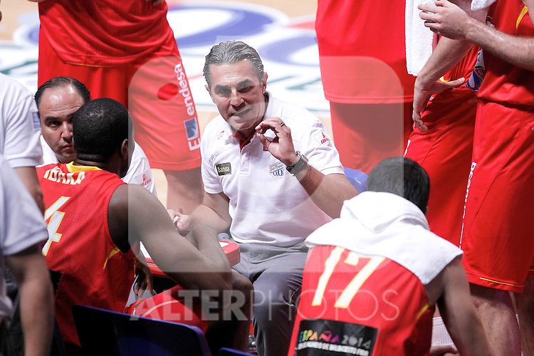 Spain's  Coach Sergio Scariolo  during friendly match.July 9,2012.(ALTERPHOTOS/Alconada)