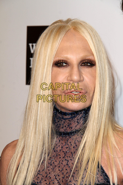 WEST HOLLYWOOD, CA - March 02: Donatella Versace at the 22nd Annual Elton John AIDS Foundation Oscar Viewing Party Arrivals, Private Location, West Hollywood,  March 02, 2014. <br /> CAP/MPI/JO<br /> &copy;JO/MPI/Capital Pictures