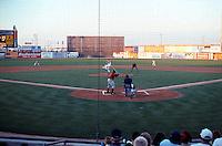 Ballparks: Lancaster Municipal Stadium. First inning--just after 7 PM of an Aug. evening, 1999.