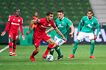 Kerem Demirbay (Leverkusen #10),  li Milos Veljkovic (Werder Bremen #13)<br /> Theodor Gebre Selassie (Werder Bremen #23)<br /> <br /> Sport: Fussball: 1. Bundesliga: Saison 19/20: <br /> 26. Spieltag: SV Werder Bremen vs Bayer 04 Leverkusen, 18.05.2020<br /> <br /> Foto ©  gumzmedia / Nordphoto / Andreas Gumz / POOL <br /> <br /> Nur für journalistische Zwecke! Only for editorial use!<br />  DFL regulations prohibit any use of photographs as image sequences and/or quasi-video.