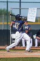 San Diego Padres Josh Magee (7) during an instructional league game against the Texas Rangers on October 9, 2015 at the Surprise Stadium Training Complex in Surprise, Arizona.  (Mike Janes/Four Seam Images)