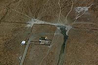 aerial photograph cattle tracks Sonoma County, California