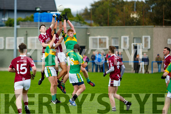 Cromane against Moyvane at the Novice Club Football Championship Final at Strand Road on Sunday