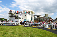 A good crowd attended during Father's Day Racing at Salisbury Racecourse on 18th June 2017