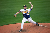 Canisius College Golden Griffins relief pitcher Michael Ginther (36) delivers a pitch during the first game of a doubleheader against the Michigan Wolverines on February 20, 2016 at Tradition Field in St. Lucie, Florida.  Michigan defeated Canisius 6-2.  (Mike Janes/Four Seam Images)