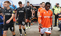 Bradford City's Eoin Doyle and Blackpool's Marc Bola<br /> <br /> Photographer Rachel Holborn/CameraSport<br /> <br /> The EFL Sky Bet League One - Blackpool v Bradford City - Saturday September 8th 2018 - Bloomfield Road - Blackpool<br /> <br /> World Copyright &copy; 2018 CameraSport. All rights reserved. 43 Linden Ave. Countesthorpe. Leicester. England. LE8 5PG - Tel: +44 (0) 116 277 4147 - admin@camerasport.com - www.camerasport.com
