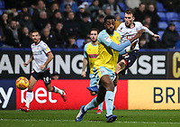 Bolton Wanderers' Christian Doidge shoots at goal <br /> <br /> Photographer Andrew Kearns/CameraSport<br /> <br /> The EFL Sky Bet Championship - Bolton Wanderers v Rotherham United - Wednesday 26th December 2018 - University of Bolton Stadium - Bolton<br /> <br /> World Copyright &copy; 2018 CameraSport. All rights reserved. 43 Linden Ave. Countesthorpe. Leicester. England. LE8 5PG - Tel: +44 (0) 116 277 4147 - admin@camerasport.com - www.camerasport.com