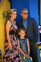 Kristen Wiig, Steve Carell &amp; Nev Scharrel at the world premiere for &quot;Despicable Me 3&quot; at the Shrine Auditorium, Los Angeles, USA 24 June  2017<br /> Picture: Paul Smith/Featureflash/SilverHub 0208 004 5359 sales@silverhubmedia.com