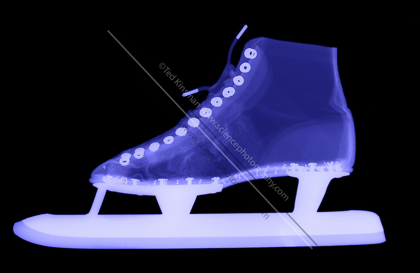 X-Ray of a speed skate.  Ice skate.
