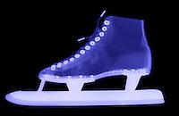 X-Ray of a speed skate.  Ice skate.