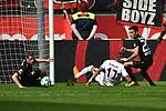 14.04.2018, BayArena, Leverkusen , GER, 1.FBL., Bayer 04 Leverkusen vs. Eintracht Frankfurt<br /> im Bild / picture shows: <br /> Kevin Prince Boateng (Frankfurt #17),  am Boden li Charles Ar&aacute;nguiz (Leverkusen #20), <br /> <br /> <br /> Foto &copy; nordphoto / Meuter