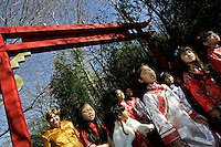 A parade walks through Zoo Atlanta during a ceremony to announce the name of the zoo's giant panda cub. ?Mei Lan,? which translates to ?Atlanta Beauty? won in an online poll, receiving 22% of the 57,015 votes cast. Voters were given a list of 10 names from which to choose. The names were suggested by several institutions interested in panda conservation including local media, Zoo Atlanta staff and volunteers, Panda Express (a Zoo Atlanta sponsor) and the people of China.<br />
