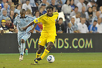 Emmanuel Ekpo (17) Columbus Crew midfielder in action... Sporting Kansas City defeated Columbus Crew 2-1 at LIVESTRONG Sporting Park, Kansas City, Kansas.