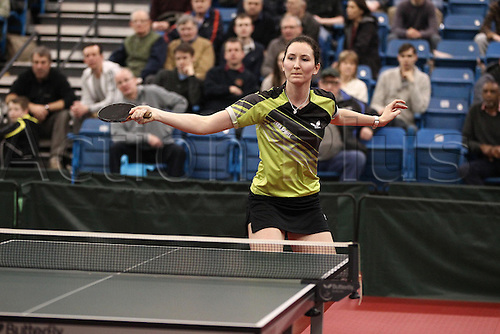 03.03.2013 Sheffield, England.  Jo Parker during the womens semi-final match of the English National Table Tennis Championships from the Ponds Forge International Sports Centre.