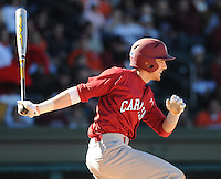 USC shortstop Bobby Haney (23) hits during a game between the Clemson Tigers and South Carolina Gamecocks Saturday, March 6, 2010, at Fluor Field at the West End in Greenville, S.C. Photo by: Tom Priddy/Four Seam Images