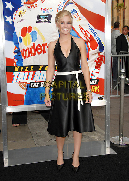 "JULIE STEPAN.World Premiere of ""Talladega Nights:The Ballad of Ricky Bobby"" held at The Grauman's Chinese Theatre in Hollywood, California, USA..July 26th, 2006.Ref: DVS.full length black satin dress white belt halterneck cleavage.www.capitalpictures.com.sales@capitalpictures.com.©Debbie VanStory/Capital Pictures"