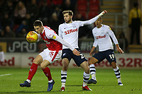 Preston North End's Tom Barkhuizen vies for possession with Rotherham United's Ben Wiles<br /> <br /> Photographer David Shipman/CameraSport<br /> <br /> The EFL Sky Bet Championship - Rotherham United v Preston North End - Tuesday 1st January 2019 - New York Stadium - Rotherham<br /> <br /> World Copyright © 2019 CameraSport. All rights reserved. 43 Linden Ave. Countesthorpe. Leicester. England. LE8 5PG - Tel: +44 (0) 116 277 4147 - admin@camerasport.com - www.camerasport.com