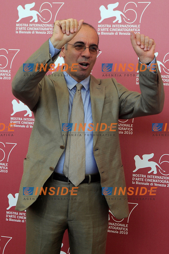"- ""67 Mostra Internazionale D'Arte Cinematografica"". Friday, 2010 September 10, Venice ITALY..- In The Picture: The film director Giuseppe Tornatore at the photocall ...Photo STEFANO MICOZZI / Insidefoto"