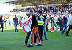 Sheffield United's Paul Coutts celebrates with a fan during the League One match at the Sixfields Stadium, Northampton. Picture date: April 8th, 2017. Pic David Klein/Sportimage
