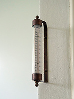 Thermometer outside the Oval Office of the White House in Washington, DC as it is undergoing renovations while United States President Donald J. Trump is vacationing in Bedminster, New Jersey on Friday, August 11, 2017.  <br /> Credit: Ron Sachs / CNP /MediaPunch