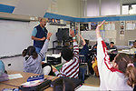 Berkeley CA 5th grade teacher engaging students in lively discussion