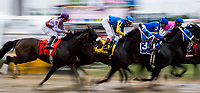 BALTIMORE, MD - MAY 20: Horses race in an undercard race on Preakness Stakes Day at Pimlico Race Course on May 20, 2017 in Baltimore, Maryland.(Photo by Douglas DeFelice/Eclipse Sportswire/Getty Images)