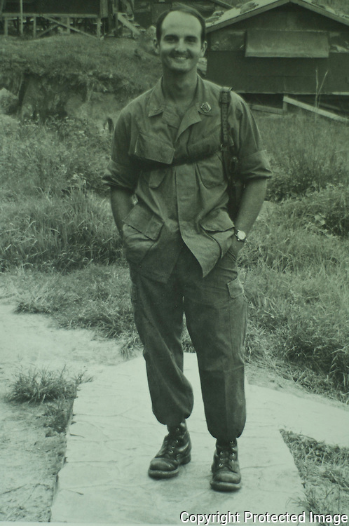 Tom Bulleit, the founder of Bulleit Bourbon, in Vietnam. He was a Marine corpsman.