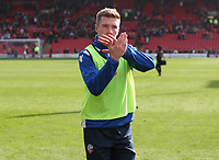 Bolton Wanderers' Josh Vela at the end of todays match<br /> <br /> Photographer Rachel Holborn/CameraSport<br /> <br /> The EFL Sky Bet Championship - Barnsley v Bolton Wanderers - Saturday 14th April 2018 - Oakwell - Barnsley<br /> <br /> World Copyright &copy; 2018 CameraSport. All rights reserved. 43 Linden Ave. Countesthorpe. Leicester. England. LE8 5PG - Tel: +44 (0) 116 277 4147 - admin@camerasport.com - www.camerasport.com