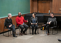 Panel from left: Broderick Fox, Jongnic Bontemps, Dyana Winkler and Adam Schoenberg<br /> Music-MAC Panel Discussion: United Skates<br /> From Queen Latifah, Salt-N-Pepa and Naughty by Nature in New York/New Jersey to Dr. Dre and Ice Cube in Los Angeles, roller rinks have long been a mecca for music and creativity. With an average of three rinks closing a month, UNITED SKATES takes a deep dive into the vibrant and celebratory world of African American roller skating.<br /> Director Dyana Winkler and composer/Oxy instructor Jongnic Bontemps presented an exclusive partial screening of the film in advance of its February HBO premiere. Examining the interplay between film and music in storytelling, this panel discussion was moderated by Music and MAC Department Professors Adam Schoenberg and Broderick Fox. Mixer in the Booth Hall courtyard and panel in Booth Hall Room 204, Jan. 29, 2019.<br /> (Photo by Marc Campos, Occidental College Photographer)