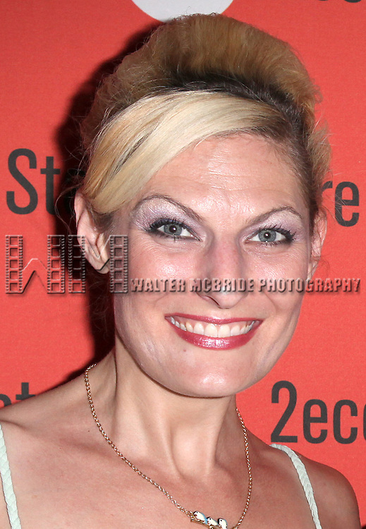 Becca Ayers.attending the after Party for Off-Broadway Opening Night Performance of Second Stage Theatre's 'Dogfight' at HB Burger in New York City.