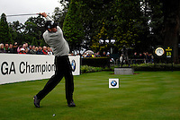 Anders Hansen tees off on the opening hole during the final round of the BMW PGA Championship at Wentworth Club, Surrey, England 27th May 2007 (Photo by Eoin Clarke/NEWSFILE)