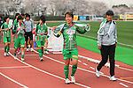 (L to R) .Azusa Iwashimizu (Beleza), . Mayumi Taratani (Beleza), .MARCH 23, 2013 - Football /Soccer : .Plenus Nadeshiko League 2013 .between NTV Beleza 2-0 FC Kibikokusaidaigaku Charme .at Ajinomoto Stadium West Field, Tokyo, Japan. .(Photo by YUTAKA/AFLO SPORT) [1040]