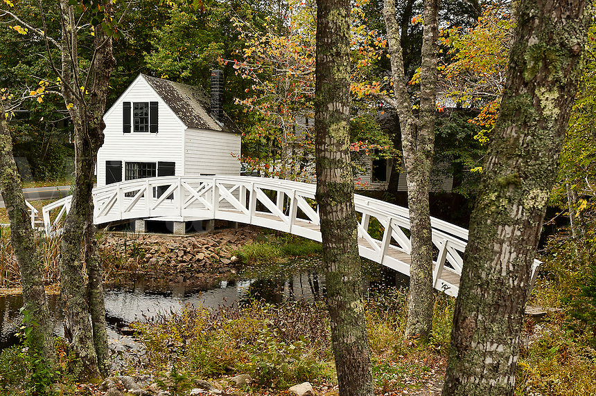 Footbridge, Somesville, Mount Desert Island, Maine