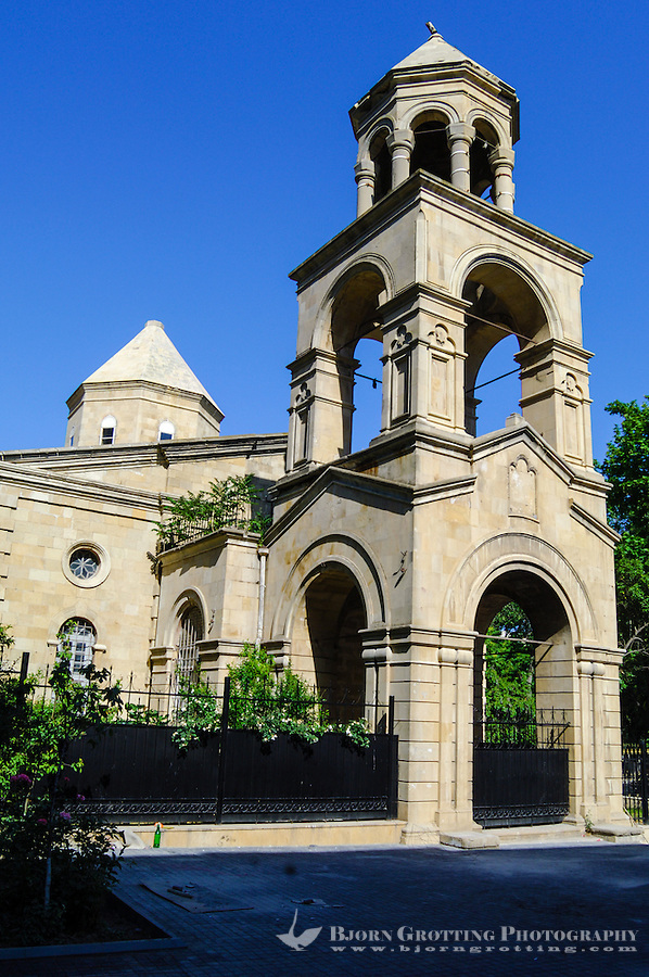 Azerbaijan, Baku. St. Gregory the Illuminator's Church is a non-functioning Armenian Apostolic church in downtown Baku.